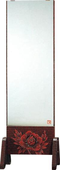 静岡県産幅54cm一面鏡姿見全身ミラー鎌倉彫上彫FK-159国産品【送料無料】