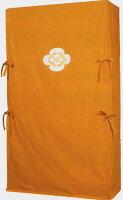送料無料!京都産別注刺繍家紋入りゆたん3方包み天竺木綿地からし色他3色あり