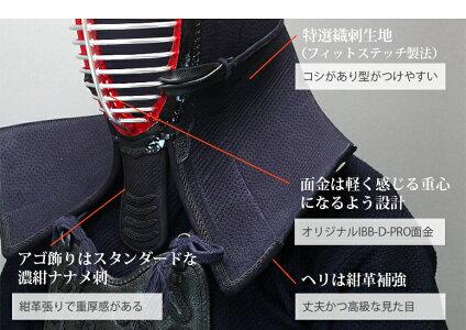 高級本格派ミシン刺4.5mmフィットステッチ織刺剣道防具セット