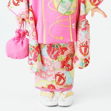 【楽天スーパーSALE】乙葉 ブランド 【レンタル】 被布コート 11点フルセット【3歳 三歳 貸衣装 七五三】子供 女児 ひな祭り お正月【往復送料無料】古典 白 ピンク