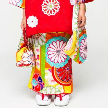 【楽天スーパーSALE】紅一点 ブランド 【レンタル】 被布コート 11点フルセット【3歳 三歳 貸衣装 七五三】子供 女児 ひな祭り お正月【往復送料無料】古典 白 赤
