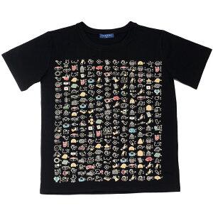 般若心経【絵心経】Tシャツ・紳士用・和雑貨・京都くろちく