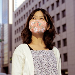 和柄のガーゼマスク、TVや新聞でご紹介いただいております、京都くろちくオリジナル♪ガーゼマ...