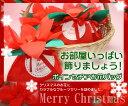 ポインセチアお花バッグ【クリスマス】【個包装】【海外発送】