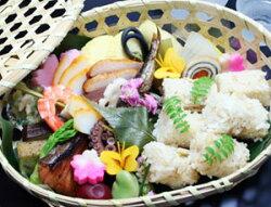 季節の行楽弁当(竹籠入り)