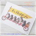 ikemottoxkyotobunguyaポストカード〈オリジナルデザイン〉ミニシュナ兄弟の大冒険〈ミニチュアシュナウザー〉