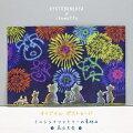 ikemottoxkyotobunguyaポストカード〈オリジナルデザイン〉ミニシュナファミリーの夏休み・花火大会(8月)シュナウザー・schnauzer・髭犬・花火・夏祭り・お祭り