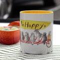 ikemottoxkyotobunguyaミニシュナ兄弟の大冒険〈オリジナルデザイン〉マグカップ自転車・シュナウザー・schnauzer・髭犬