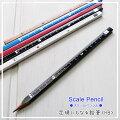 定規にもなるえんぴつ!センチとインチの目盛りがプリントされた鉛筆HB5本(軸色)セットスケールペンシルキリン鉛筆