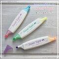 SweetTapir〈スイートテイパー〉ツインハイライター香り付き1本で2色使える蛍光ペン薄くて持ちやすい形状がオススメ