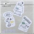 Hallmark【ホールマーク】PEANUTS〈スヌーピー〉ミニメッセージカードダイカットカードSNOOPYピーナッツ