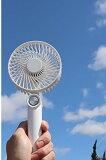 【PSE認証】ハンディファン 扇風機【A-3】【ホワイト】ハンディー扇風機 小型扇風機 軽量 静音 USB充電式 携帯 卓上手持ち両用ミニファン 風量は3段階で切り替えれます。熱中症対策 猛暑必需品。