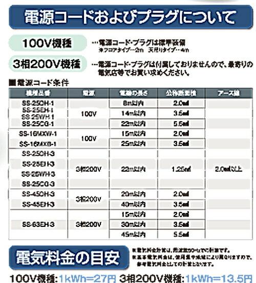スイデン(suiden)業務用スポットエアコンクールスイファンSS-63EH-3(3相200V)【冷風3口タイプ】【送料無料(北海道・沖縄・離島を除く)】【き】