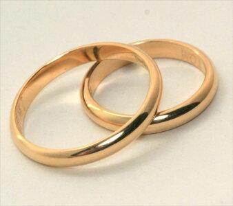 K18甲丸結婚指輪1