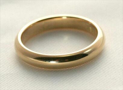K18甲丸結婚指輪4