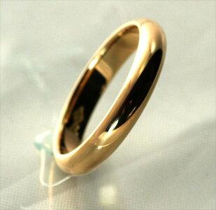 K18甲丸結婚指輪3