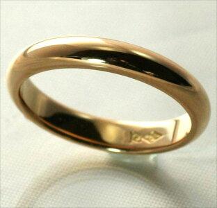 K18甲丸結婚指輪2