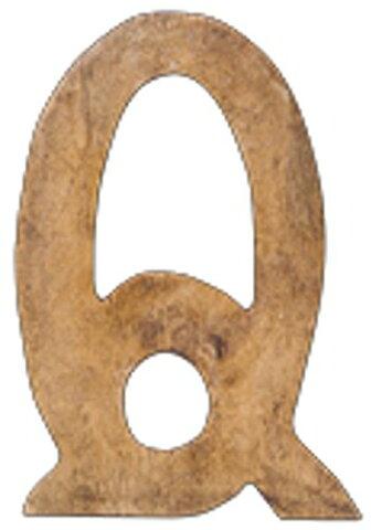 C'est La Vie ウッデンアルファベット Q/D1.5 H12.5 /マンゴーウッド/41067/4512706410671