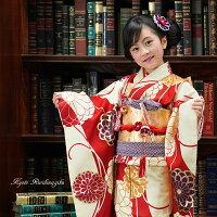 七五三 着物 7歳 フルセット 購入 販売 菊乃(きくの) レトロ モダン 女の子 七才 753 きもの 四ツ身 子供用振袖 京都
