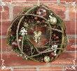 クリスマスリースエンジェル玄関にちょうど良いサイズの直径約24cm天然素材<レビューを書いて送料無料キャンペーン>