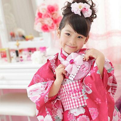子供浴衣(スイートキャンディ)キッズこども用ゆかたレース【浴衣単品】100110120130
