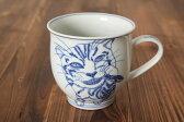 猫の染付マグカップ にぼし【清水焼】【陶磁器】【京都】【手書き】【ネコ】【絵付け】【和食器】