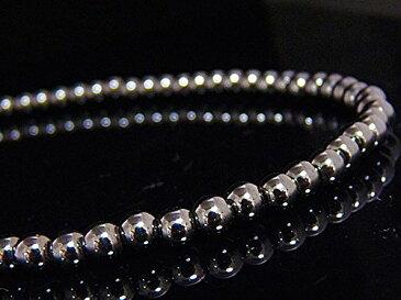 磁気の力で血行促進 肩こり 疲労回復 ヘマタイト 4mm パワーストーン 数珠ネックレス N033