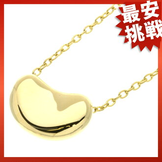 TIFFANY & co... beans necklace K18 gold ladies