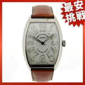 FRANCKMULLER【フランクミュラー】カサブランカ6850腕時計SS/茶革メンズ【中古】【cabcbabb】