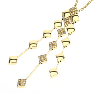 CHANEL matelasse and diamond necklace K18 gold ladies