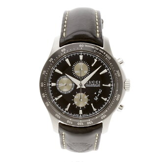 GUCCIYA126.2 watch SS/ leather men