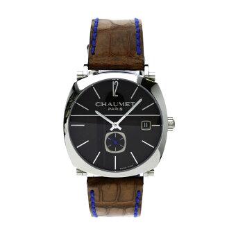 Chaumet dandy wristwatch SS / leather boys