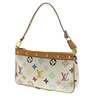 LOUIS VUITTON pochettaxesovar strap M92649 accessory pouch Monogram multi color canvas Womens