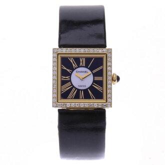 K18YG women's Watch Diamond Bezel Mademoiselle CHANEL