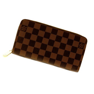 LOUIS VUITTON zippy wallet N60015 wallet (purse and) Damier Canvas unisex