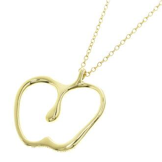TIFFANY &Co... Apple motif necklace K18 gold ladies