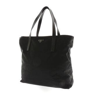 PRADA length type tote bag nylon x leather unisex fs3gm