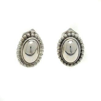 Georg Jensen dome-shaped earrings women's