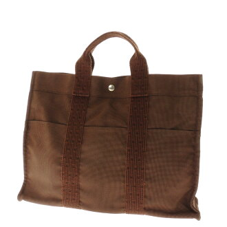 HERMES airline that MM tote bag canvas unisex