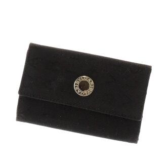 BVLGARI Mania key case 6-key case canvas x leather unisex
