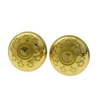 Circle earrings K18 yellow gold ladies