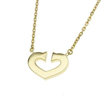 CARTIERC heart necklace K18 yellow gold Lady's fs3gm