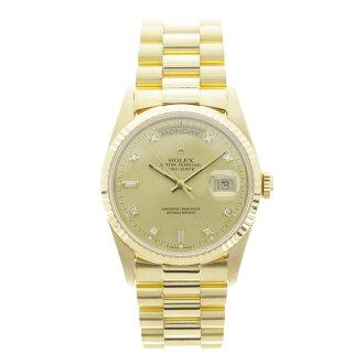 ROLEX18238A Oyster Perpetual Day-date 10 P diamond watch YG men's fs3gm