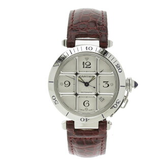 Finish CARTIER pasha 38mm OH; watch SS/ leather Lady's fs3gm