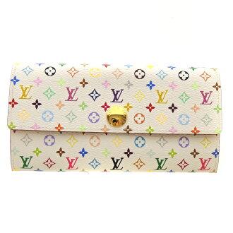 LOUIS VUITTON Pochette-port Monet, Credit Suisse M60004 wallet (purse and) ladies ' Monogram multi color canvas