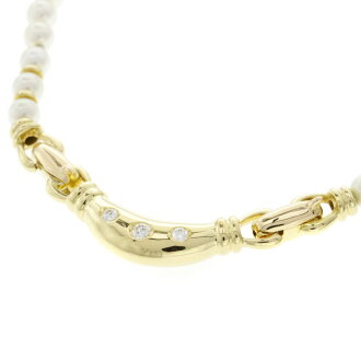 MIKIMOTO pearl necklaces K18 18kt yellow gold ladies fs3gm