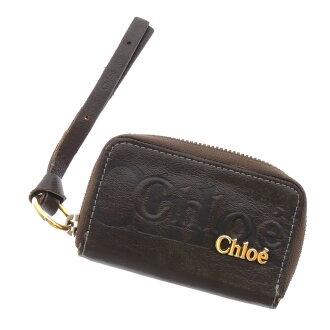 CHLOE Eclipse 6 + Keyring with key holder key holder Leather Womens