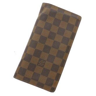 LOUIS VUITTON Porte foil-brothers N60017 wallet (purse and) Damier Canvas unisex