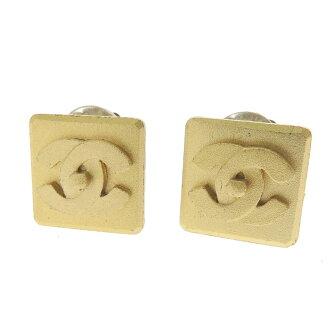 CHANEL Chanel mark earrings women's