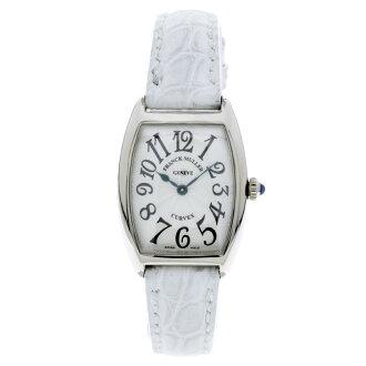 FRANCK MULLER tenor curvex 1752 QZ wristwatch ・k18wg / Leather Womens
